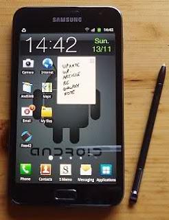 Spesifikasi Samsung Galaxy Note | Harga Samsung Galaxy Note