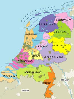 Map of Holland Cities