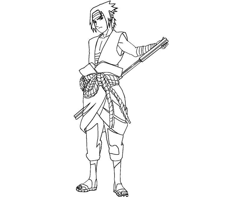 Printable Sasuke Uchiha 25 Coloring Page
