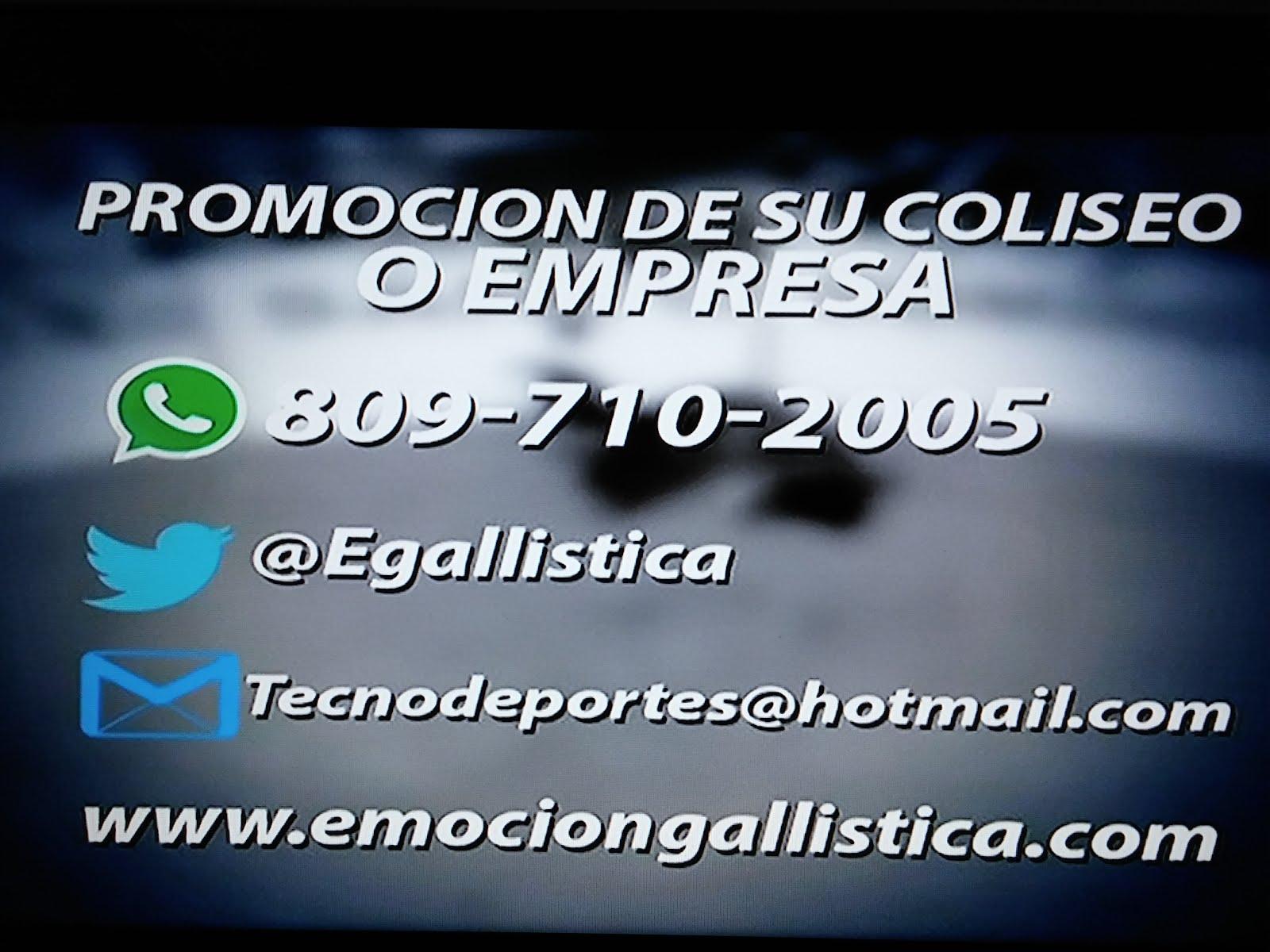 Promocione su Gallera ,  Coliseo Gallistico  o Empresa con nosotros ...Cel: 809-710-2005