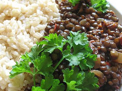 spicy tamarind lentils