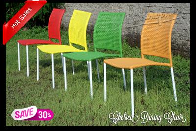 CHELSEA Dining Chair - Kursi Makan Rotan Sintetik