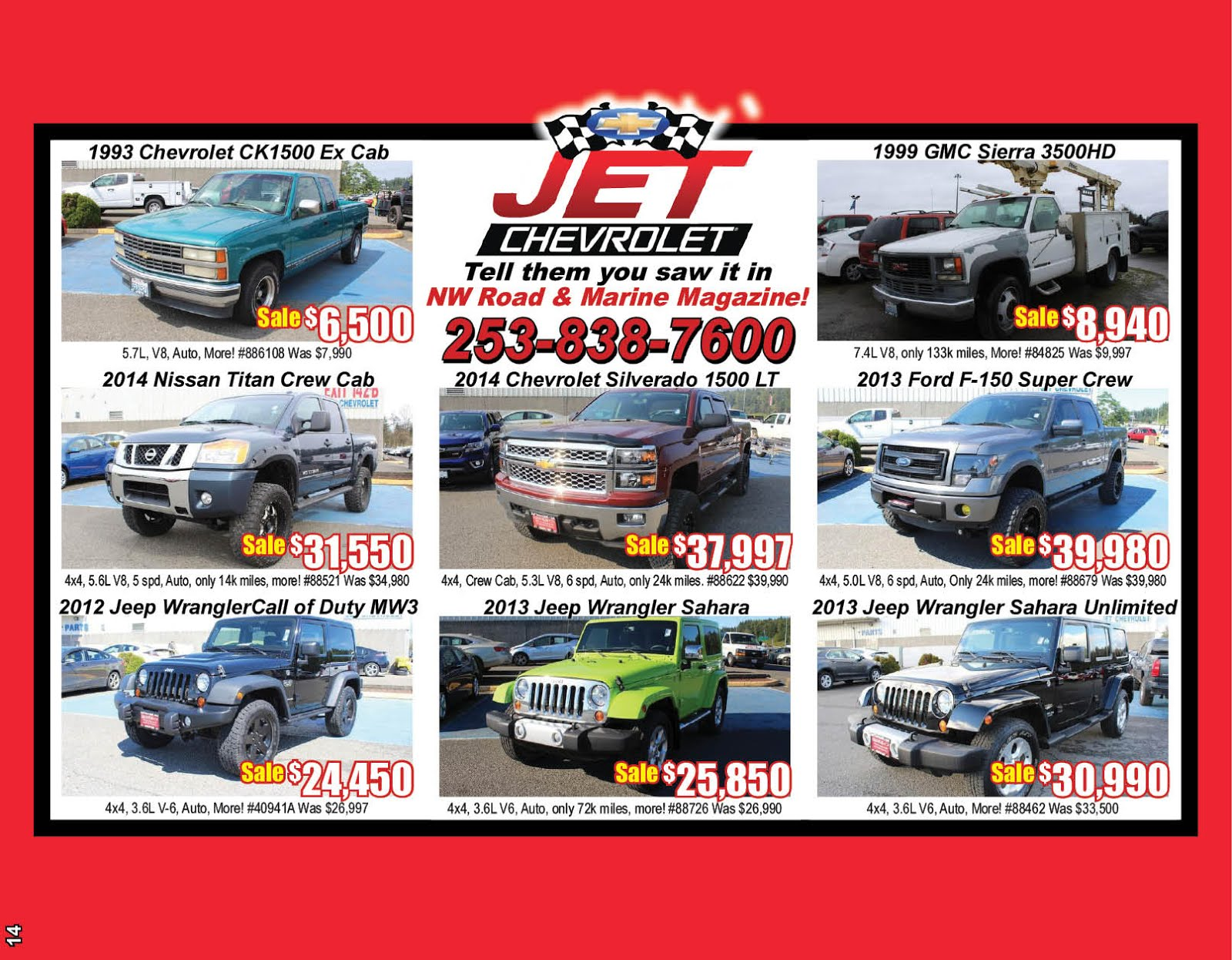 Jet Chevrolet Pre-Owned Truck Sale!!