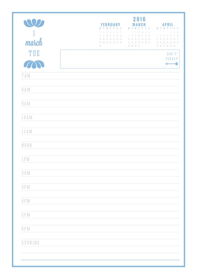 Free Printable 2016 Daily Diary Eliza Ellis Free Printable Diary