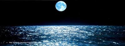 Couverture facebook lune et mer