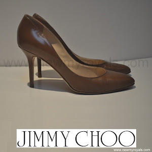 Crown Princess Mary Style JIMMY CHOO Gilbert Leather Pumps