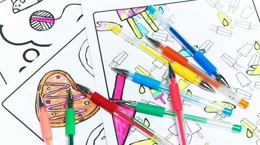 AmazaPens 24 Gel Coloring Pens -  #AmazaPens