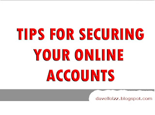 computer safety tips - protecting your online accounts ~ Information