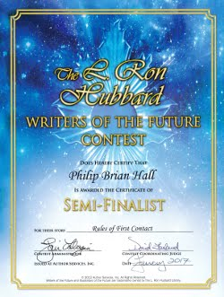 Writers of the Future<br><b>Semi Finalist</b><br>