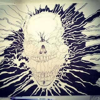 drawing horror skull designs