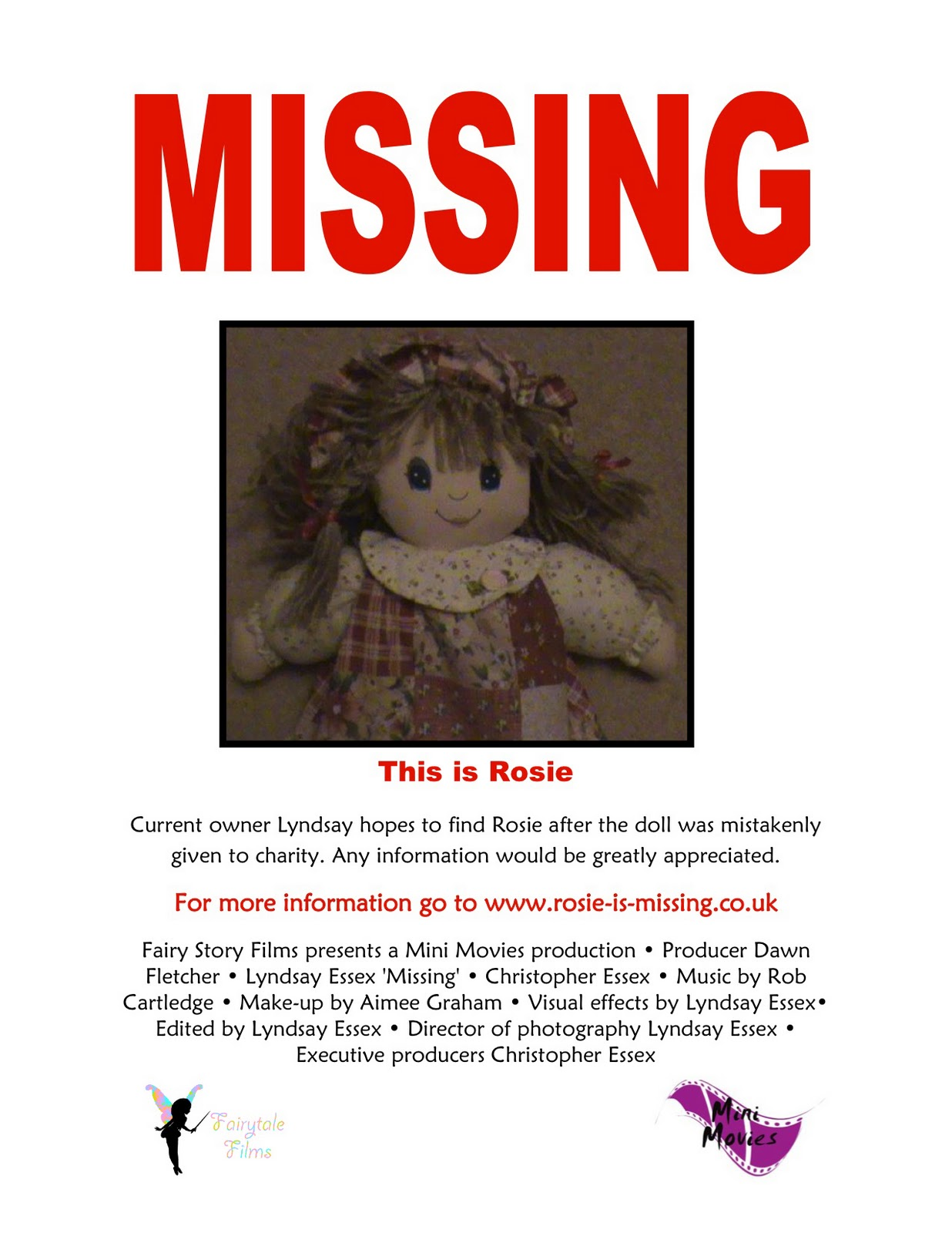 LyndsayOutLouds A2 Media Missing poster Ideas – Make a Missing Poster