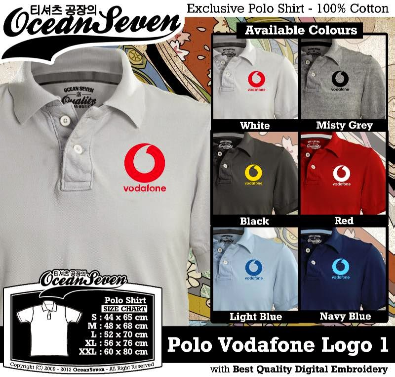 Kaos Polo Vodafone Logo 1