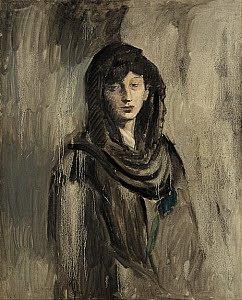 Fernanda com um lenço preto