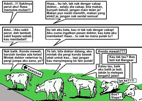 Kelakar 1Malaysia: Lebuhraya untuk Gajah, Kondo untuk Lembu? (1Malaysia Joke: Highway for Elephants, Condo for Cows?) www.klakka-la.blogspot