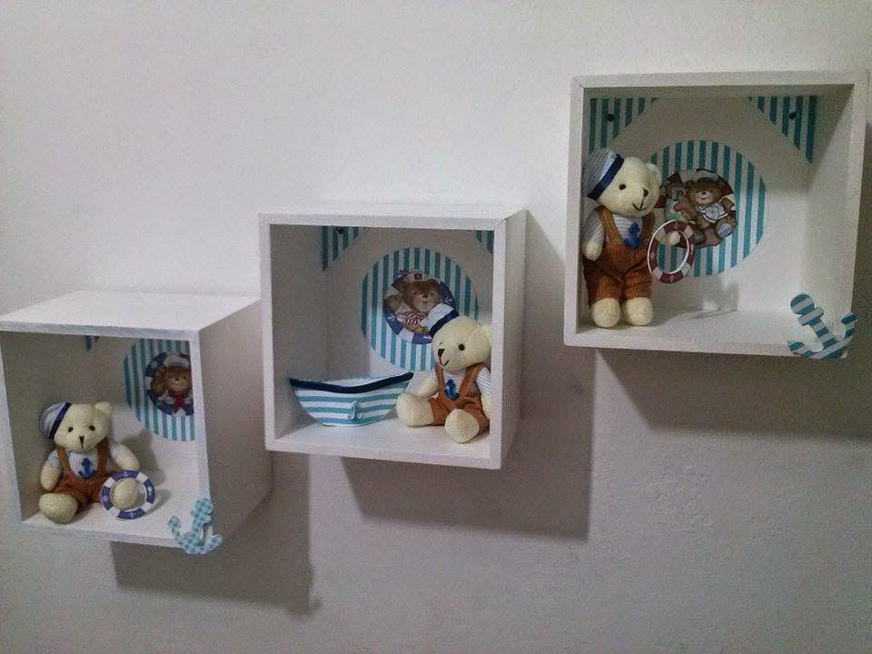 Nosso Ateliê Arte e Decoração Nichos tema Ursinho  ~ Trio De Nicho Para Quarto De Bebe