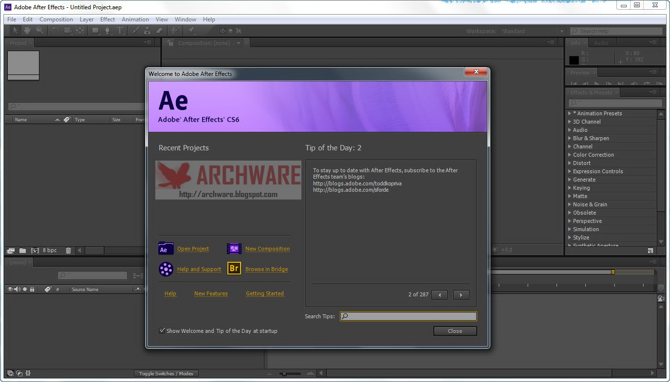 Adobe After Effects 6.5 Crack Download