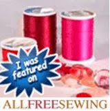 I was featured on ALLFREESEWING