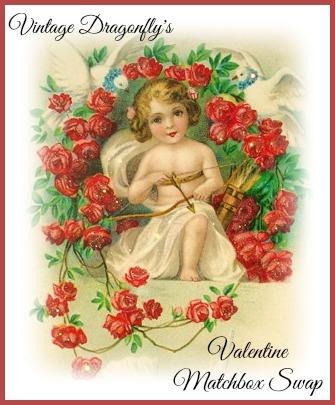 2015 Vintage Dragonfly's Valentine's Day Matchbox Swap