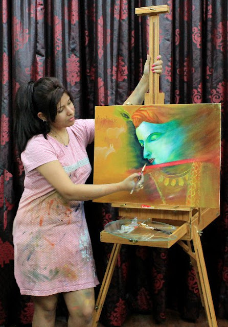 "Painting Krishna 1 by Isha Trivedi ""Isha Trivedi"""
