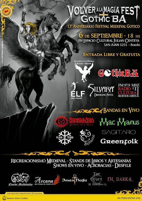 VOLVER A LA MAGIA FEST + GOTHIC BA Festival Medieval Gotico 13° Aniversario