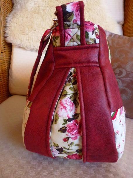 Schnabelina Bag von der Seite mit Zip.it Einsatz, aber ohne Reißverschluss