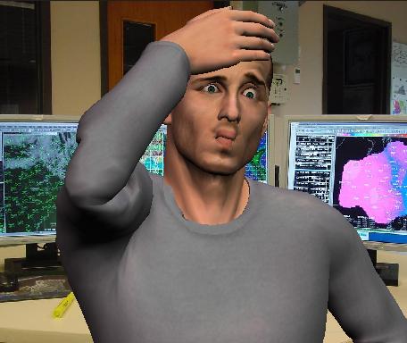 bewildered worker