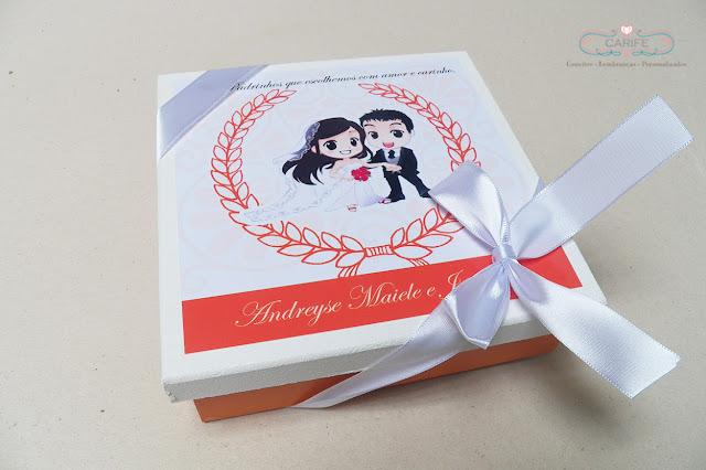 caixa para padrinhos de casamento