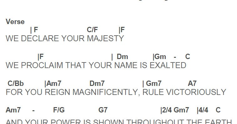 Ripple Thoughts: We Declare Your Majesty guitar chord
