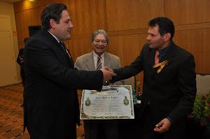 """CURITIBA - Secretário de educação  recebe o """"PRÊMIO INTEGRACION LATINOAMERICANO 2011"""
