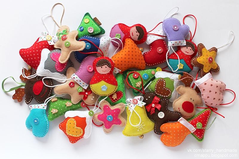 Красивые новогодние игрушки своими руками мастер класс