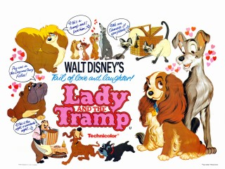 Aternate film poster Lady and the Tramp 1955 animatedfilmreviews.blogspot.com