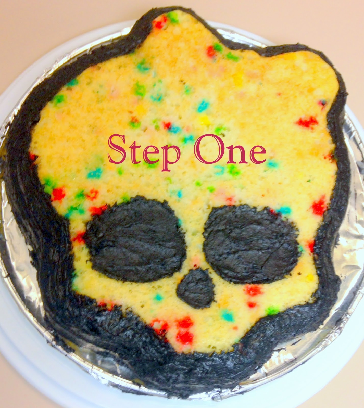 DIY Monster High Birthday Cake Outnumbered 3 to 1