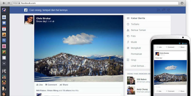 Cara Mudah Membuat Tampilan Terbaru Facebook