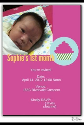 Sophie's 1st Month + Anniversary Dinner
