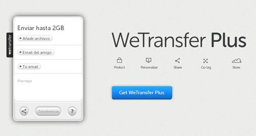 envía todos tus archivos de hasta 2 GB con Wetransfer