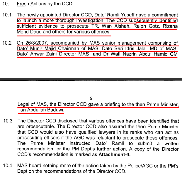 On the same date as stated in MASKargo Managing Director Shaari Sulaiman's memo to the MACC Commissioner dated May 20th 2009 (see above), Dato Ramli gave a ...