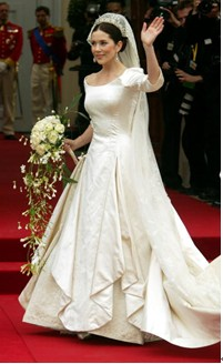 Designed By Danish Designer Uffe Frank This Stylish Gown Worn Princess Mary At Her 2004 Wedding To Prince Frederik Perfectly Balanced Traditional