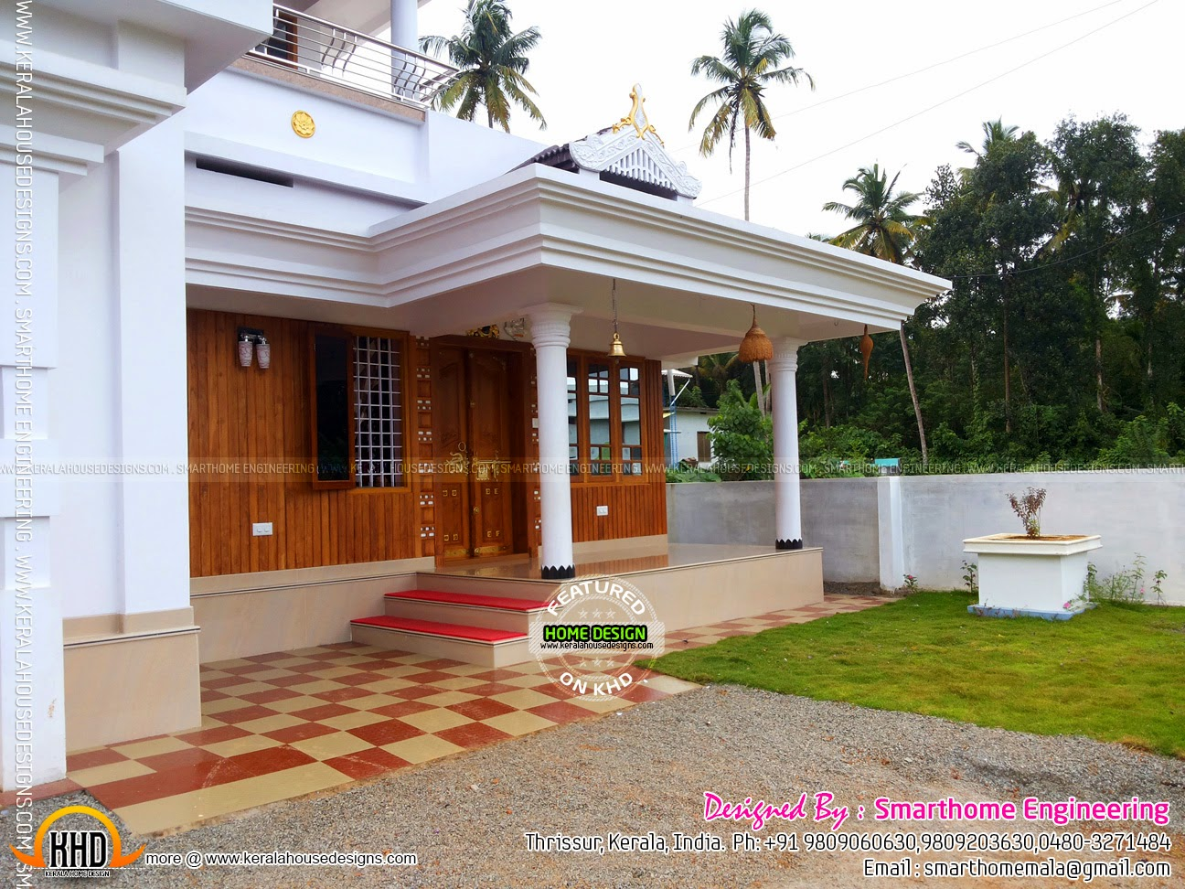 Ground Floor House Elevation Furnished : Kerala home design and floor plans furnished house with