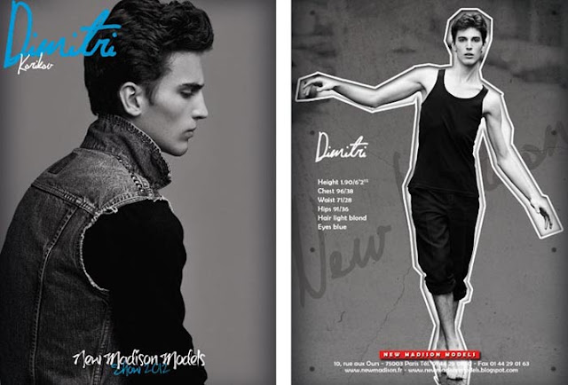 Dmitrii Korikov show card New Madison - Paris F/W 2012