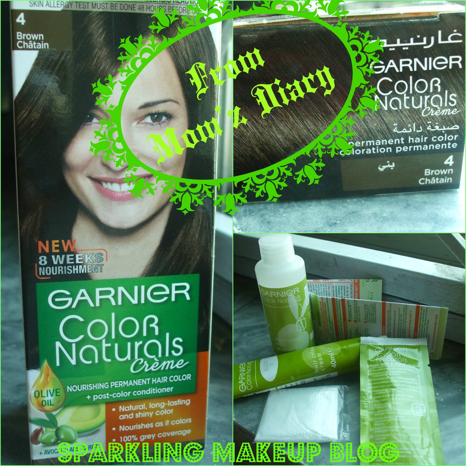 Garnier Color Naturals Creme\' Hair Color~ Brown #4~ From My Mom\'z ...