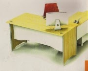 Uno Meja Kantor Modern Series Maple-White