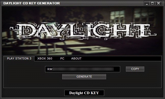Daylight CD KEY Generator