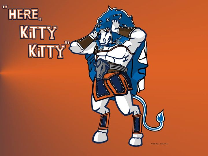 """here, kitty, kitty"".- #broncos, #lions, #nfl, #LionsHaters, #lionslose, #broncosvslions,"