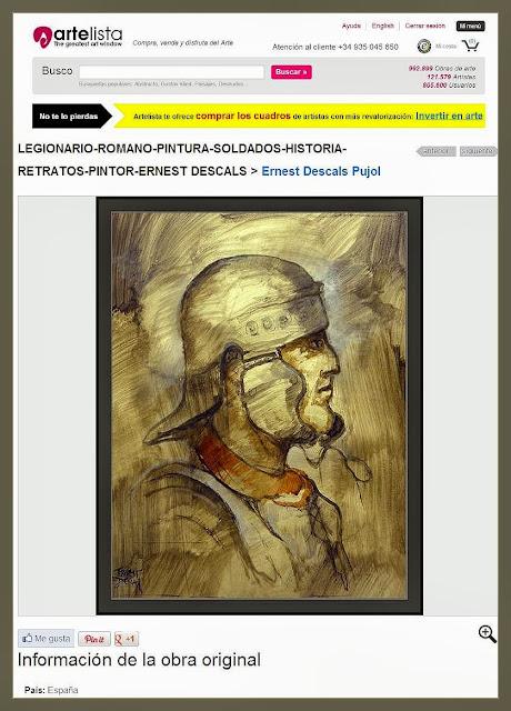 ARTELISTA-PINTURA-ARTE MILITAR-LEGIONARIOS-ROMA-RETRATOS-HISTORIA-PINTOR-ERNEST DESCALS