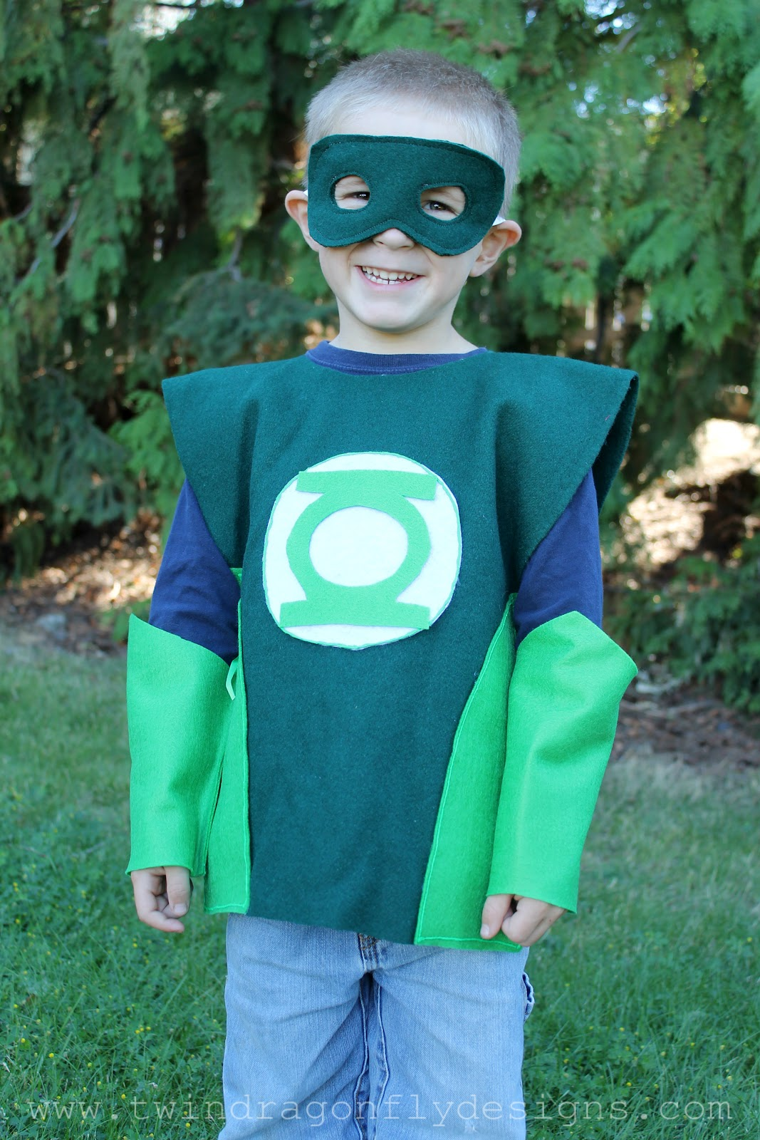 No sew super hero costumes tutorial dragonfly designs green lantern solutioingenieria Choice Image