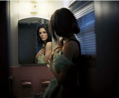 Hilary Rhoda looking seductive in these cinematic photos for Numero Tokyo Magazine January 2013