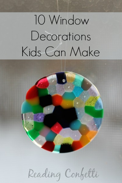10 suncatchers and colorful window decorations kids can make
