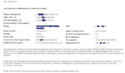 Screen Shot IPA Singapore In Principle Approval MOM  Singapore Jobs in Singapore Fortville Singapore