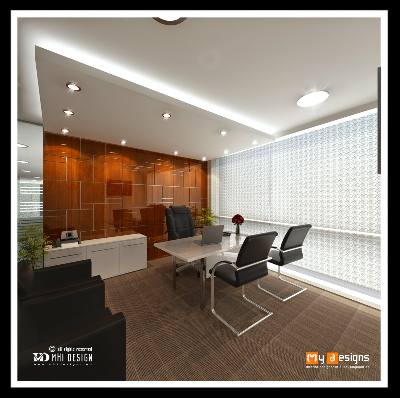 Office interior designs in dubai interior designer in for Interior design of office
