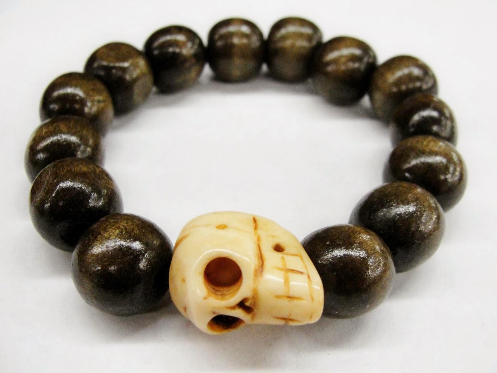 Skull Season Our Limited Handmade Natural Wood Bone Bracelet